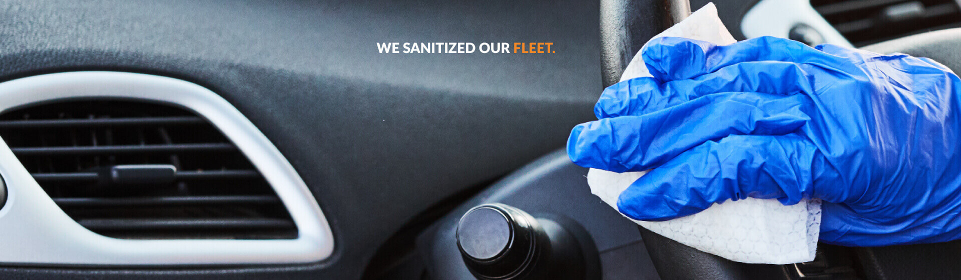 We sanitized our fleet
